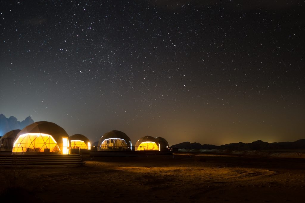 Overnight in Martian Tent in Wadi Rum