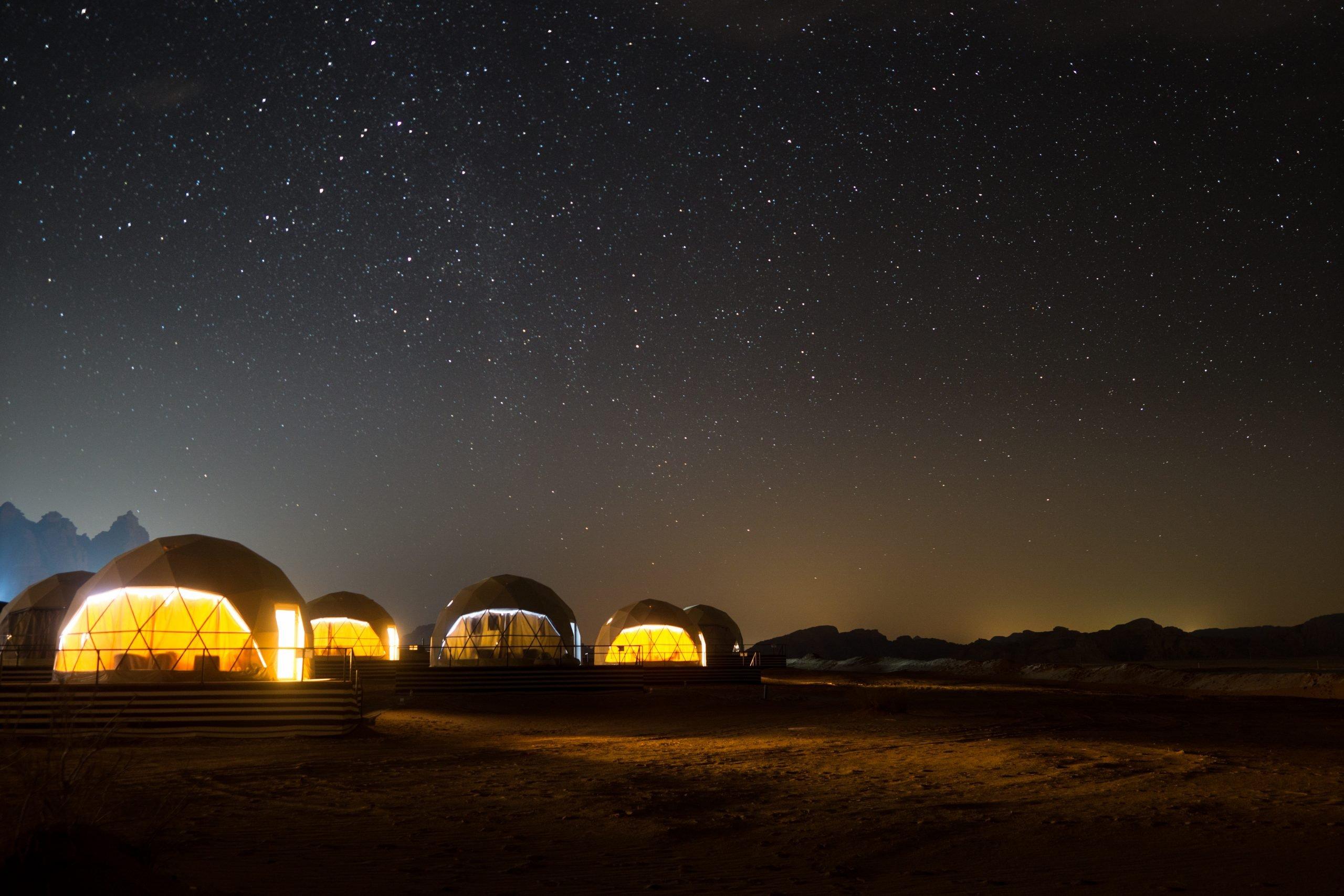 Overnight In Martian Tent In Wadi Rum