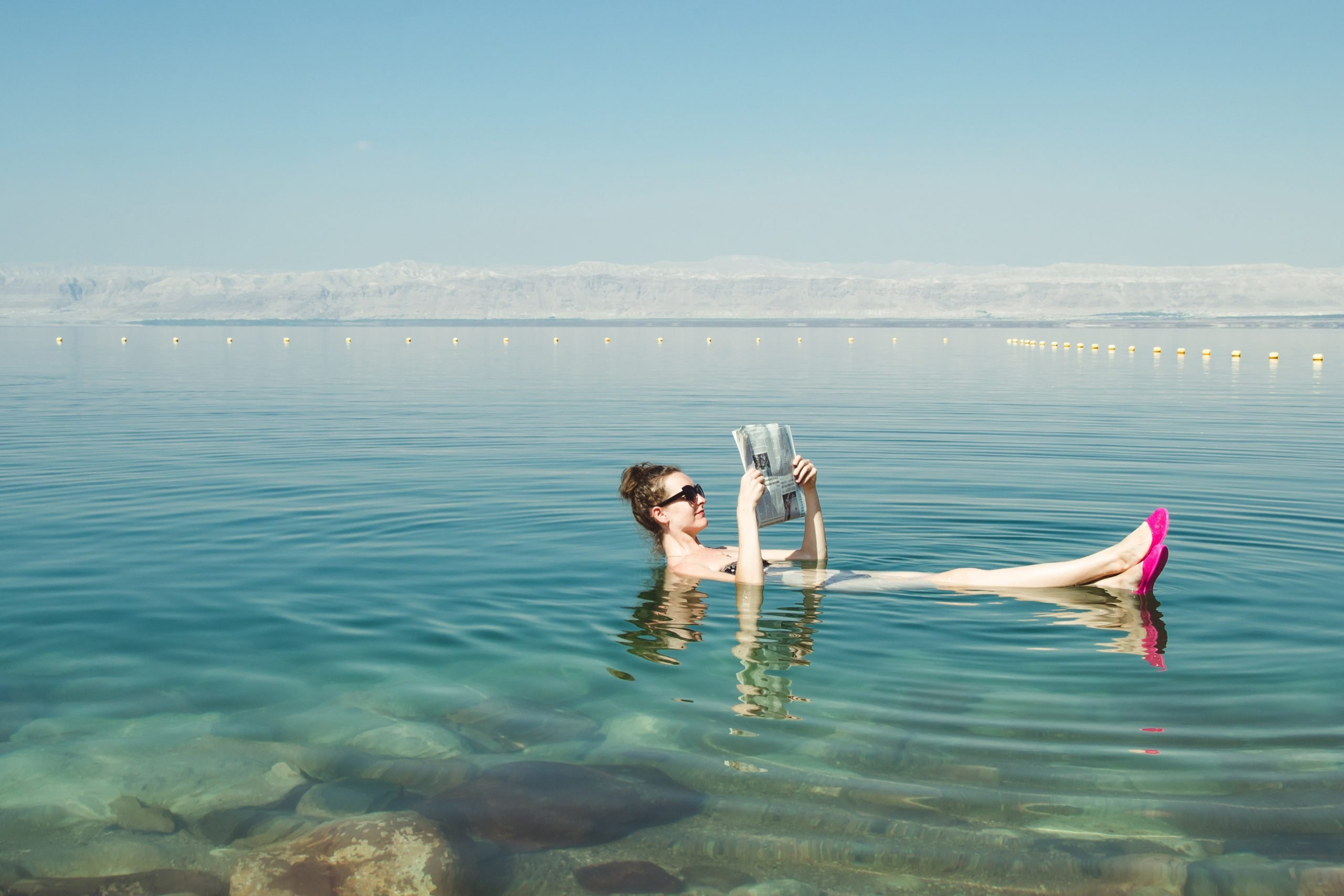 Floating In The Dead Sea On The Tour From Tel Aviv And Jerusalem