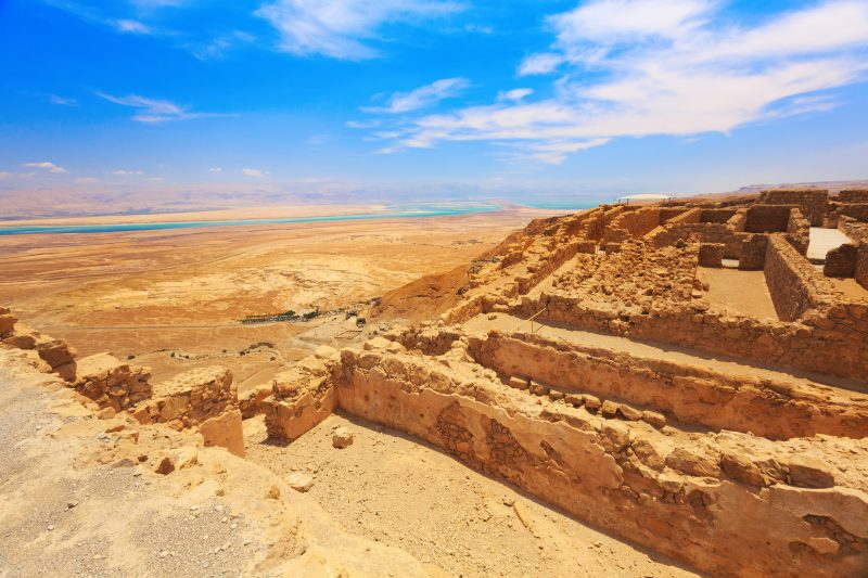 The Masada Fortress Above The Dead Sea