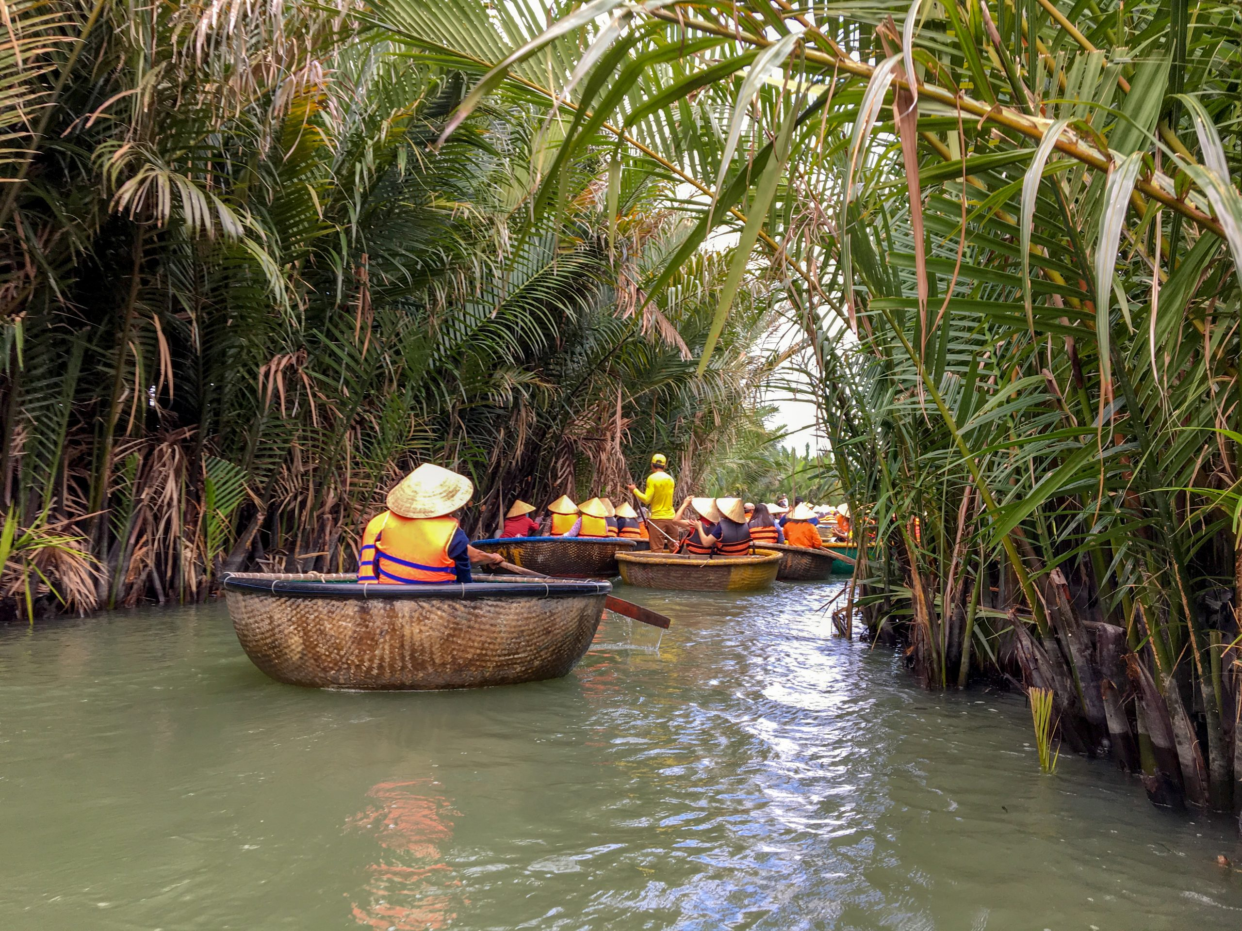 Paddling Along The Palm Tree Forest During The Biking Through Hoi An And The Rural Areas During Your Bicycle Tour And Cooking Class Experience