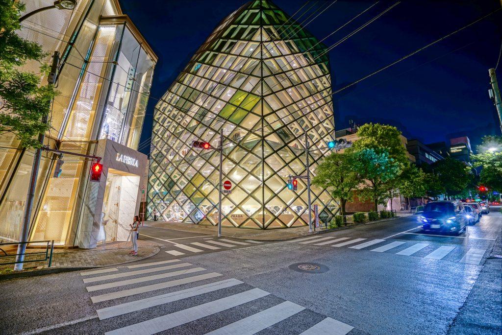 Prada's Omotosandu Store was designed by Herzog de Meuron