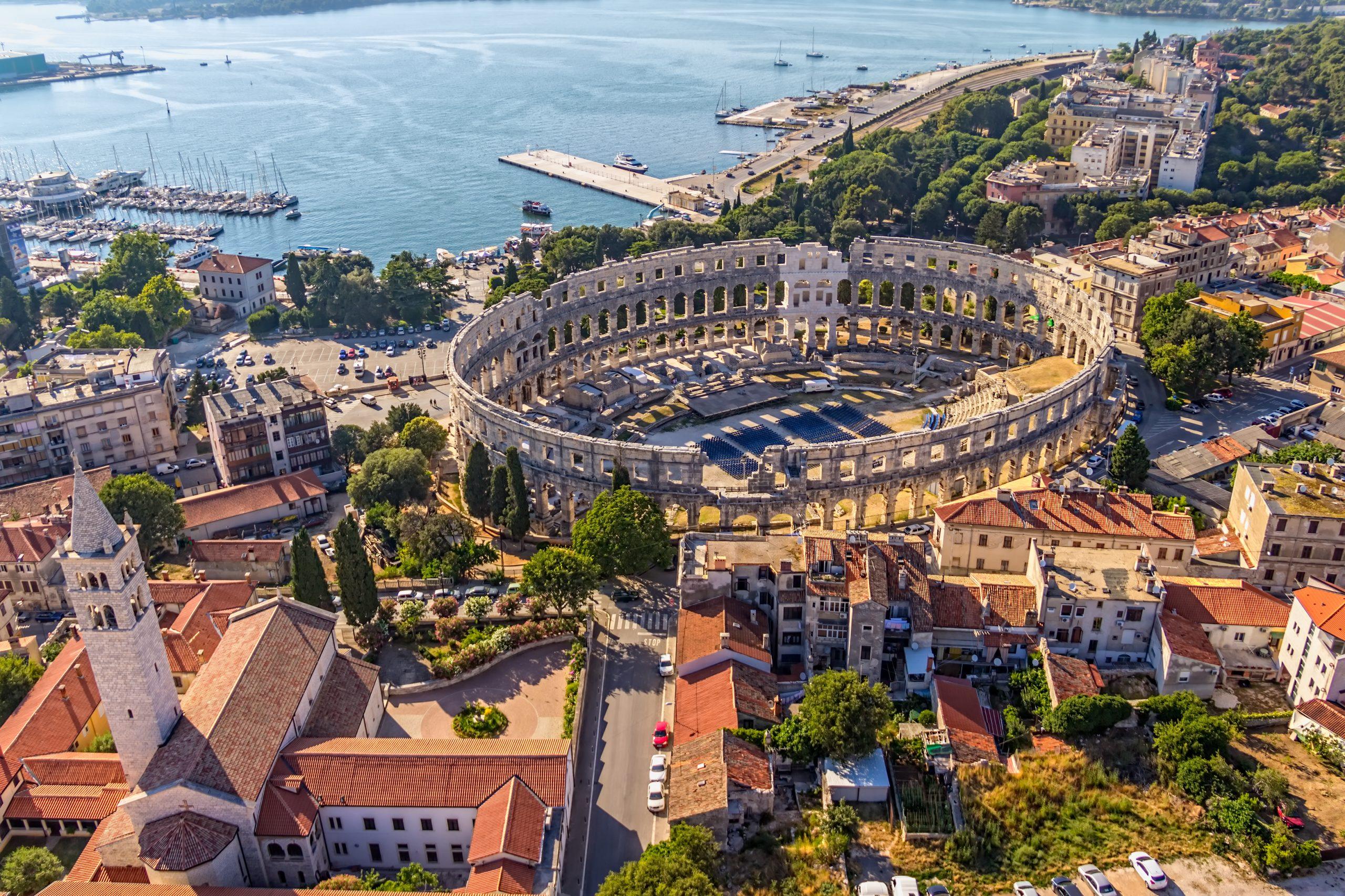 Visit The Famous Pula Amphitheatre During Your Pula Walking Tour