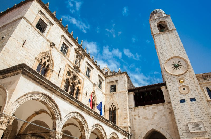 Stop At The Famous Sponza Palace During The Dubrovnik City Tour