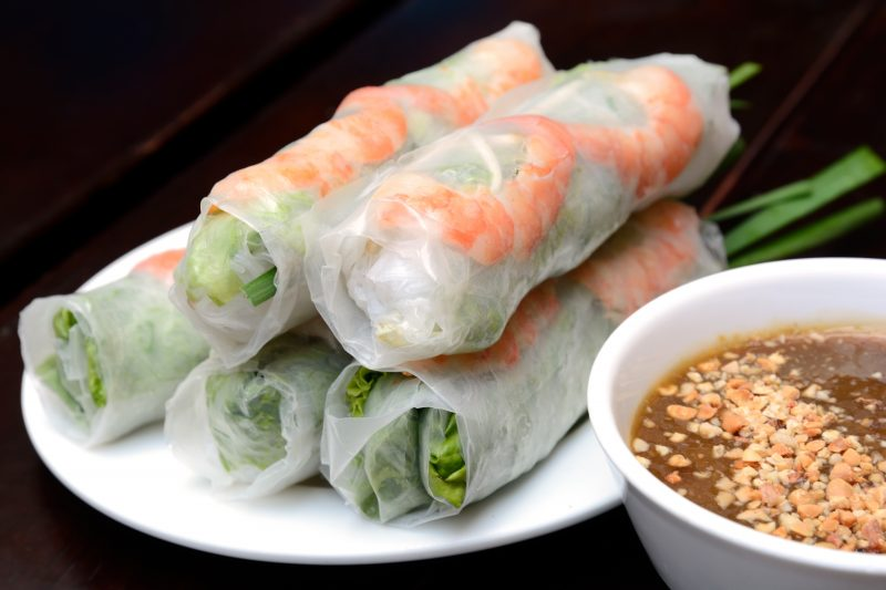 Try Fresh Spring Rolls During The During Your Bicycle Tour And Cooking Class Experience