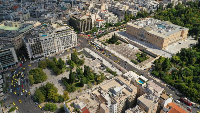 Areal View Over The Syntagma Square
