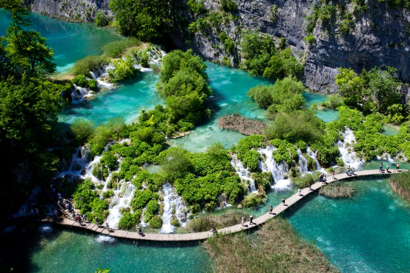 Areial View Over Plitvice National Park