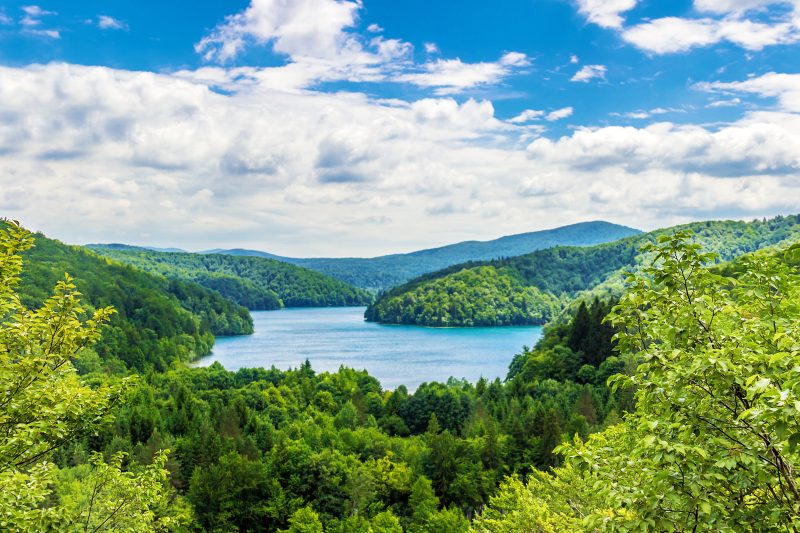 Beautiful View Of Plitvice Lakes National Park