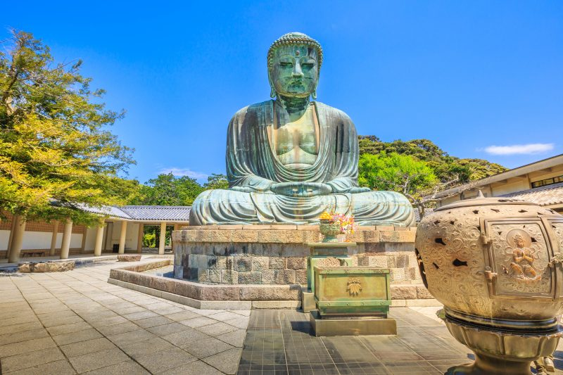 Discover The Great Buddah In The Kotoku-in Temple On Your Kamakura Walking Tour And Tea Ceremony