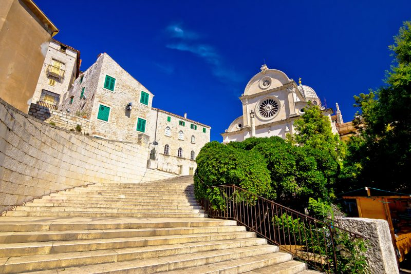 Discover The Unesco Heritage Site Of St James Cathedrale On Your Krka National Park And Sibenik Day Tour From Split