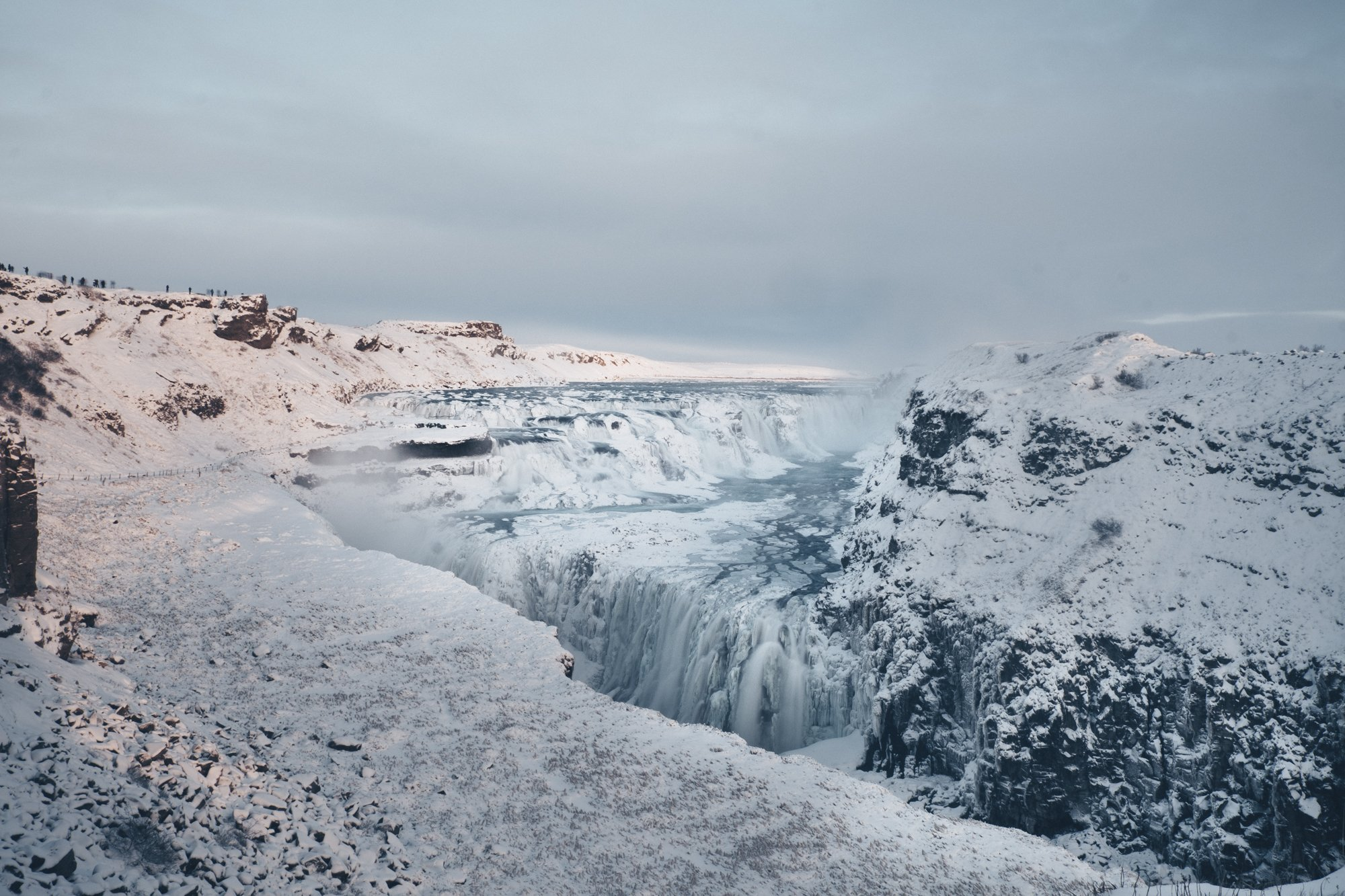 Discover The Beautiful Gullfoss Waterfall During The Golden Circle Small Group Tour