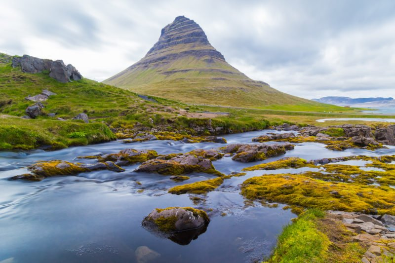 Discover The Freestanding Mt. Kirkjufell Or Church Mountain