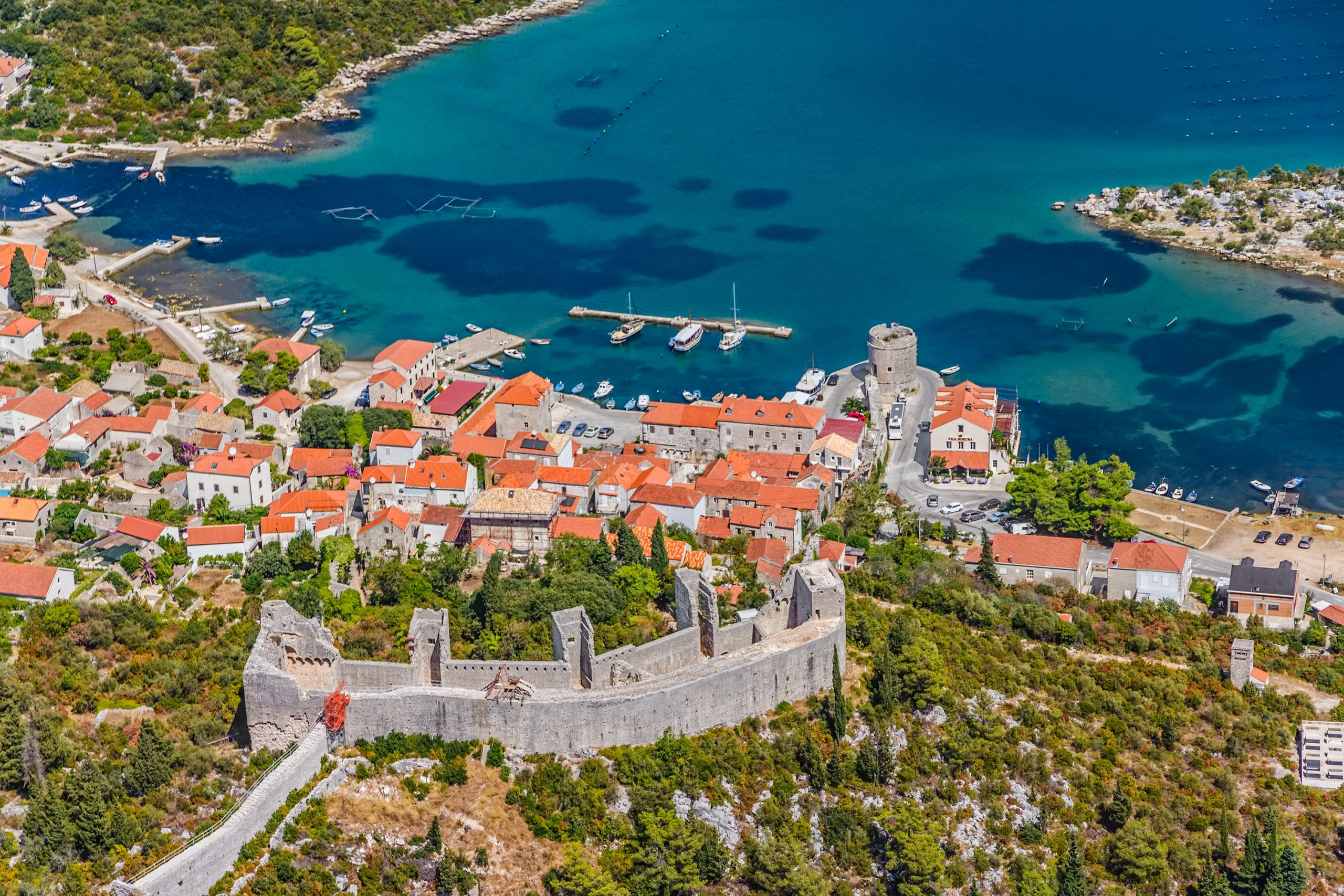 Discover The Longest Stone City Wall In Europe On The Wine And Oyster Tasting Experience At The Pelješac Peninsula