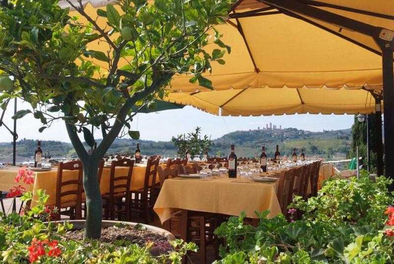 Enjoy A Typical Lunch With Views Over A Chianti Vineyard On Your Best Of Tuscany Tour_49