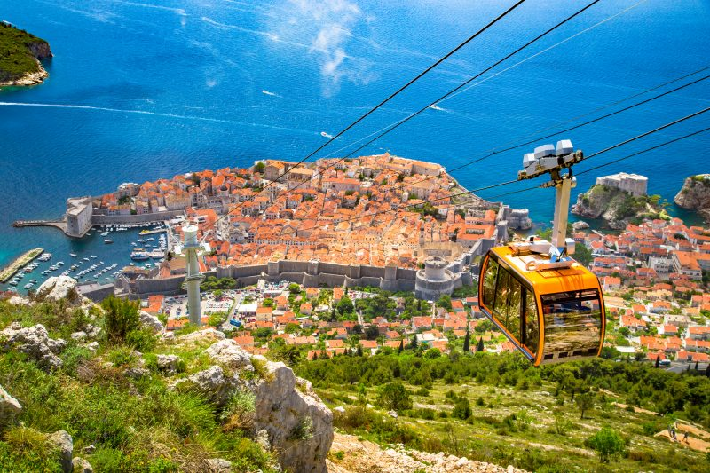 Enjoy The Cable Car Ride And The Bueatiful Panoramic View Over Dubrovnik On Your Day Tour From Split