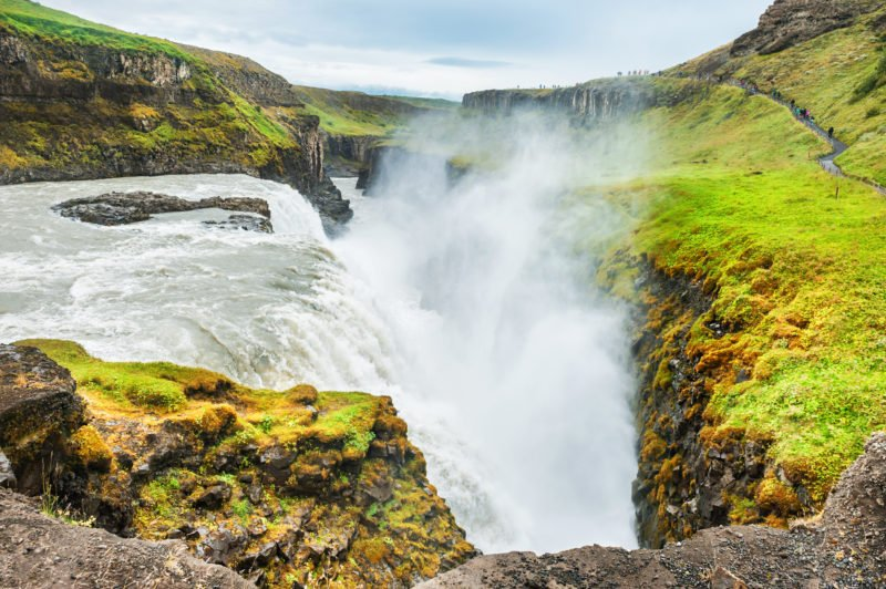 Enjoy The Views Of Gullfoss Waterfall On Your Golden Circle And Secret Lagoon Day Tour