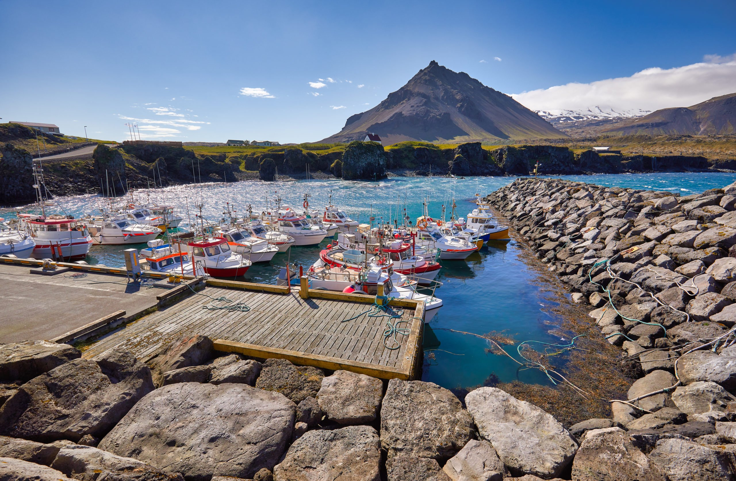 Enjoy The Views Over Arnarstapi Village And The Landscape Of Western Iceland On The Snæfellsnes Peninsula Day Tour