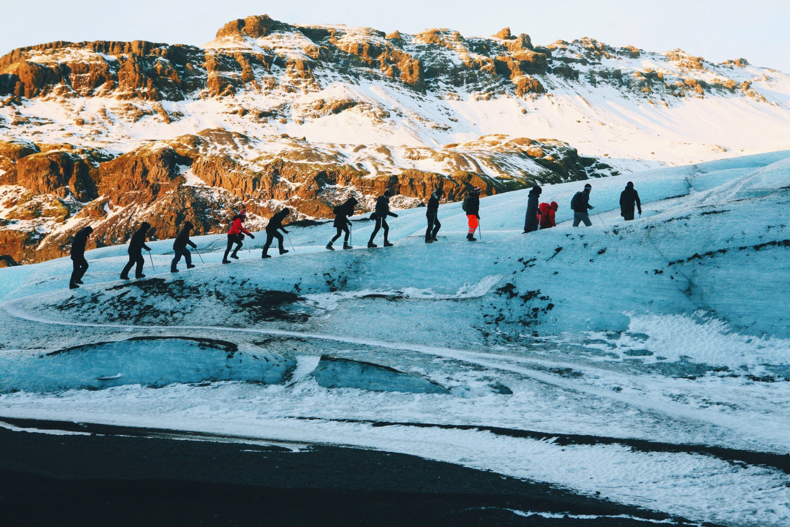 Experience A Glacier Walk On The Solheimajokull Glacier During The Southern Iceland Day Tour