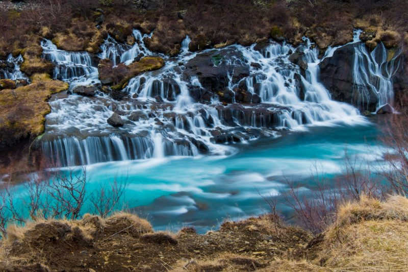 Explore The Hraunfossar And Barnafoss Waterfalls On Your Silver Circle Super Jeep Experience