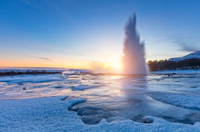 Explore The Beautiful Geysir On The Golden Circle And Secret Lagoon Day Tour