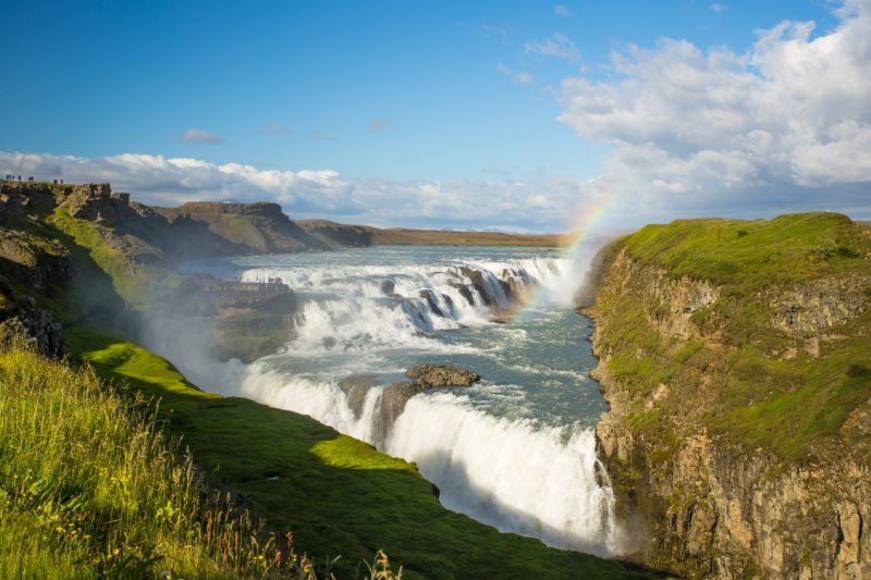 Explore The Famous Gulfoss Waterfall On Your Golden Circle Super Truck And Snowmobile Experience