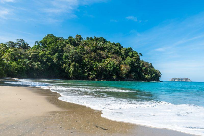 Relax At The Stunning Playa Espadilla During Your Manuel Antonio Catamaran Tour