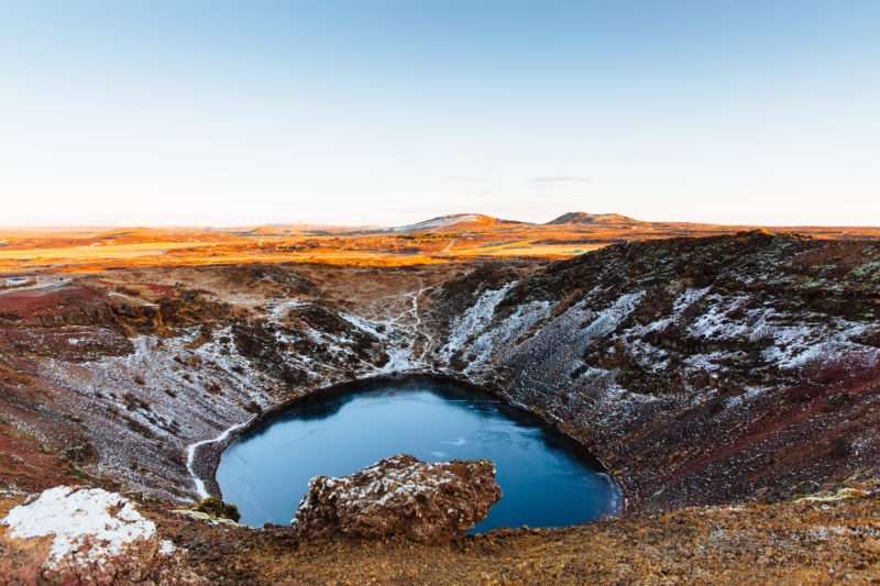 Stop At The Beautiful Kerid Crater Lake During The Golden Circle And Secret Lagoon Day Tour