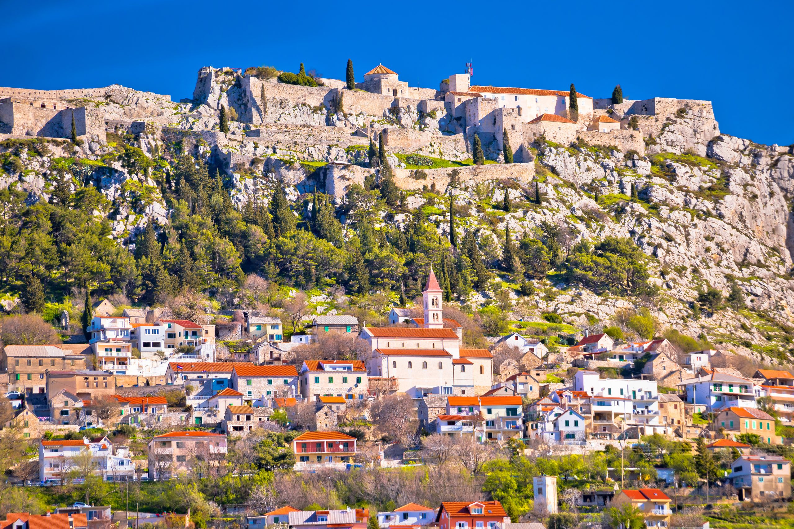 Enjoy The View Of A Town And Fortress Of Klis Near Split During Your Day Tour To Klis Fort And Trogir