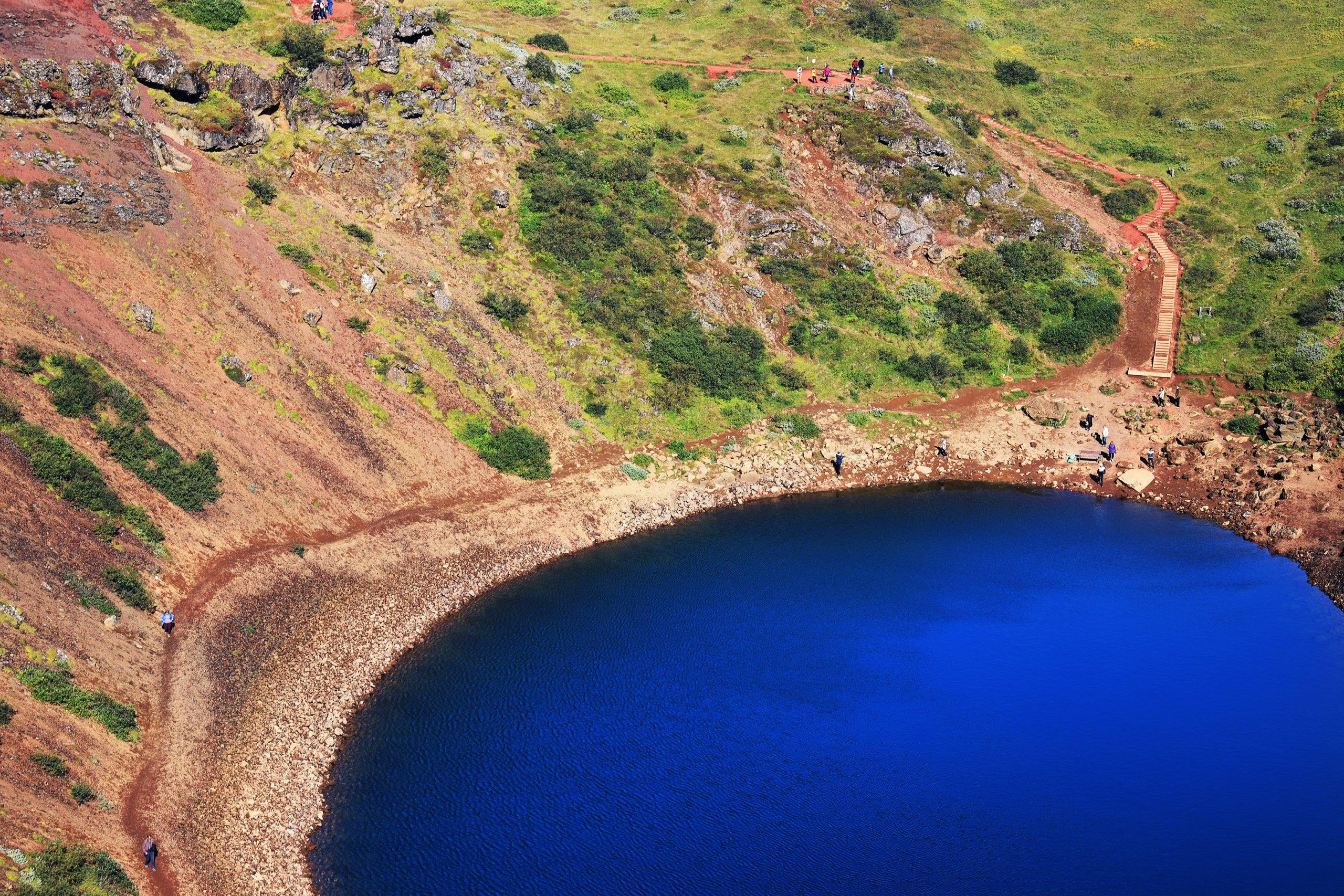 Visit The Beautiful Kerið Volcanic Crater On The Golden Circle Small Group Tour