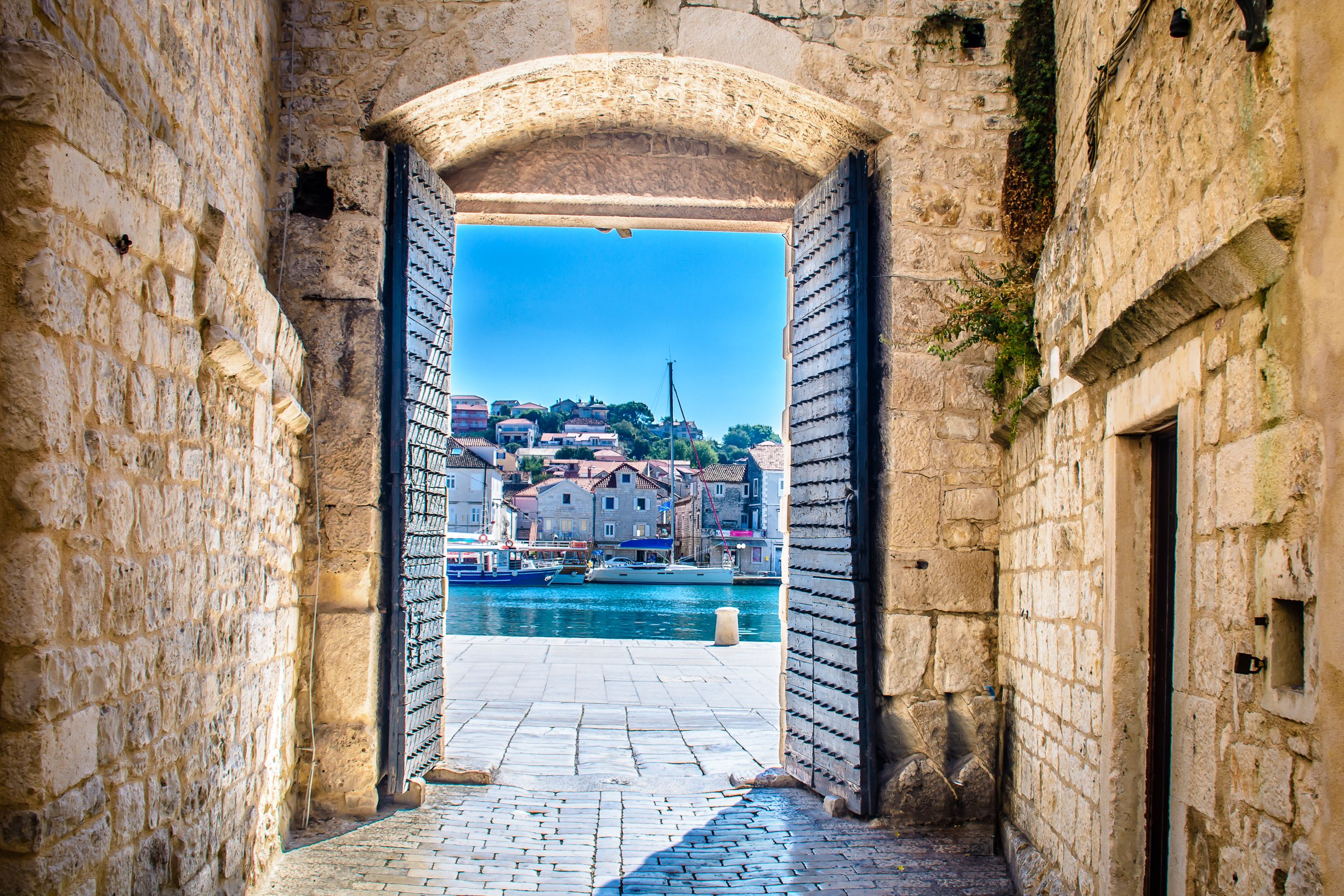 View Of The Port In Trogir During Your Klis And Trogir Day Tour