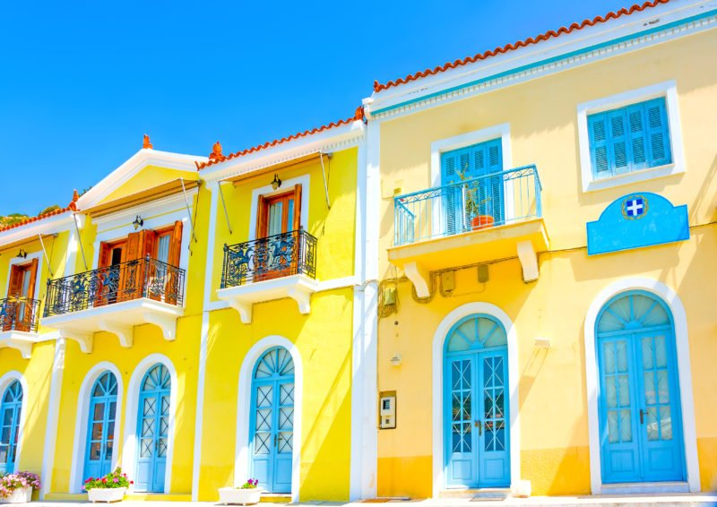 Discover The Colorful Houses Of Poros On The Aegina, Poros And Hydra Cruise From Athens
