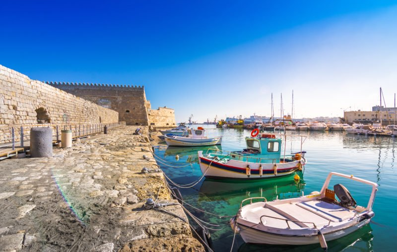 Enjoy A Stroll At Heraklion Port And The Venetian Castle On The Knossos Palace And Heraklion Archaeological Museum Tour