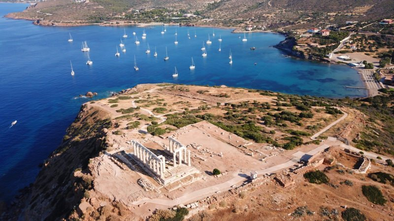 Enjoy The Beautiful Views Over The Aegean Sea On The Cape Sounio Half Day Tour From Athens