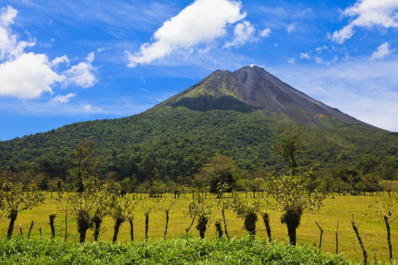 Enjoy The Beautiful Views Over The Arenal Volcano During Lunch On The Sloth Experience And Hot Springs At Arenal Volcano