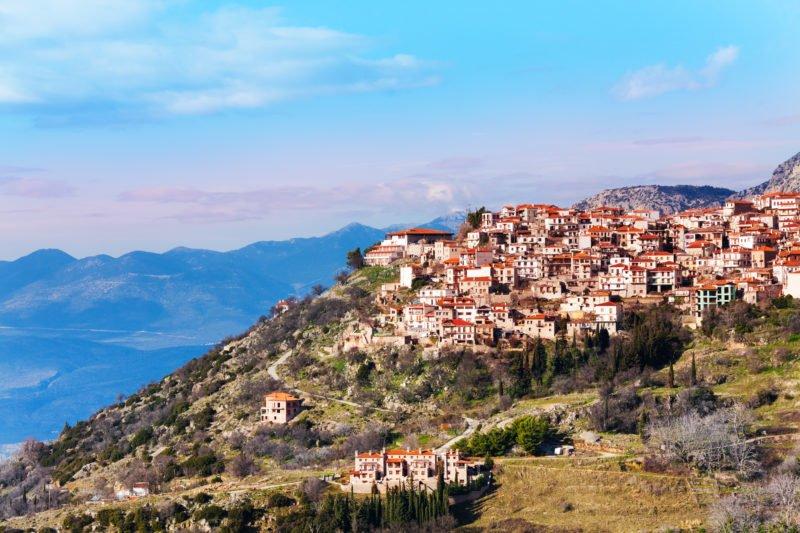 Enjoy The Views Over Arachova Village On The Delphi Tour From Athens