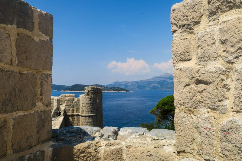 Enjoy The Views Over Sipan Island From V From The Holy Maria Of Spilice Church And Fortress On Lopud Island During Your 2 Day Dubrovnik Tour Package