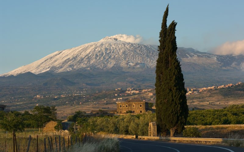Explore The Beautiful Area Of Mt Etna On The During The Taste Of Sicily 8 Day Package Tour
