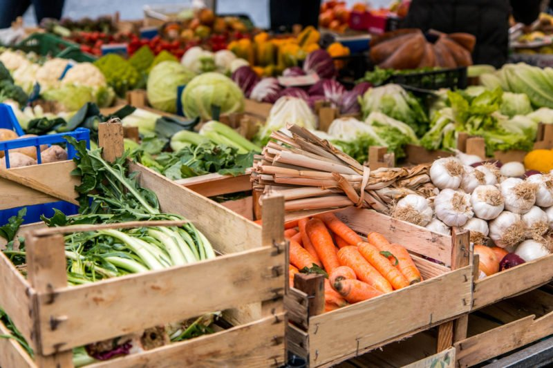 Explore The Fresh Ingredients On The Campo De' Fiori Market In Rome