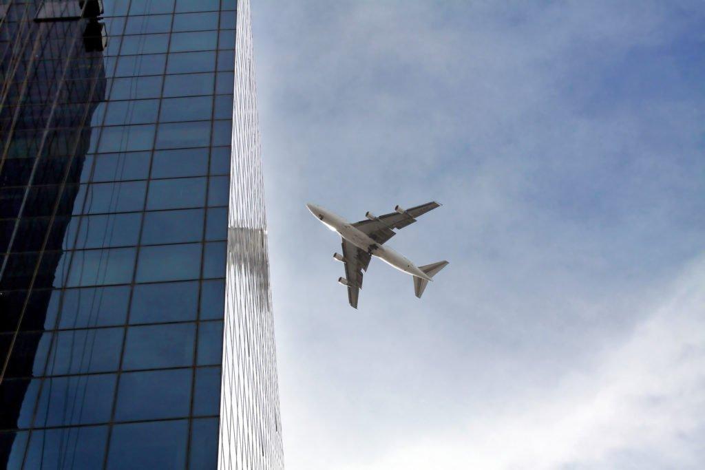 Airplane over Tel Aviv