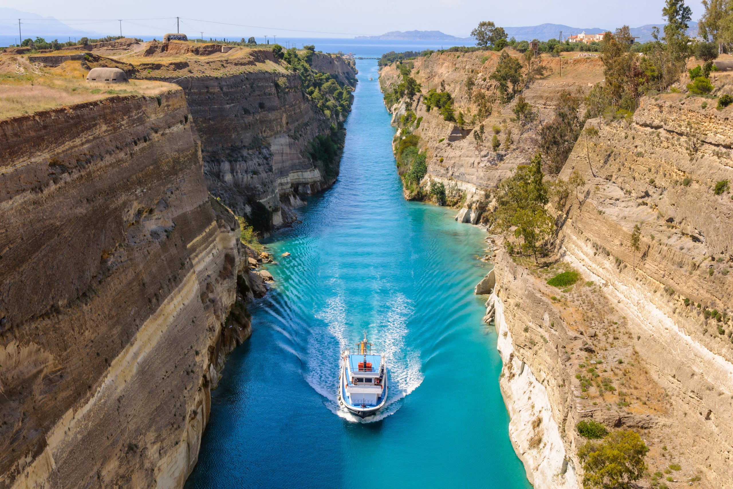 Stop At The Strategic Landmark The Canal Of Corinth On The On The Greece 4 Day Tour Package From Athens