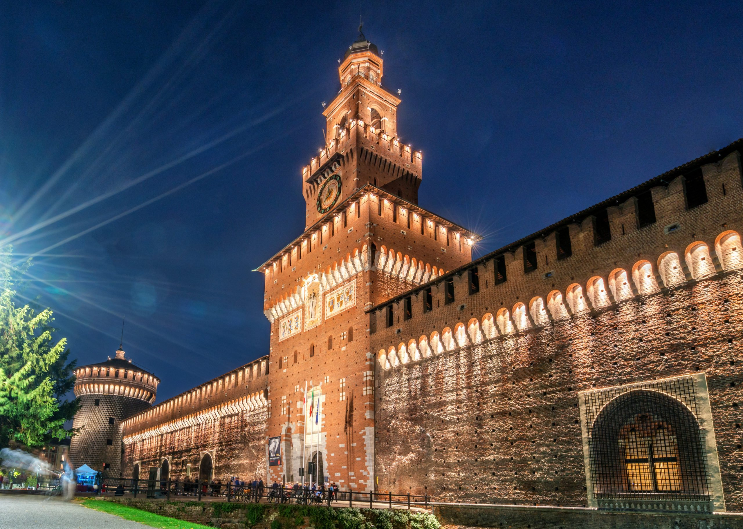 Stop By Sforza Castle On The Milan Night Walking Tour