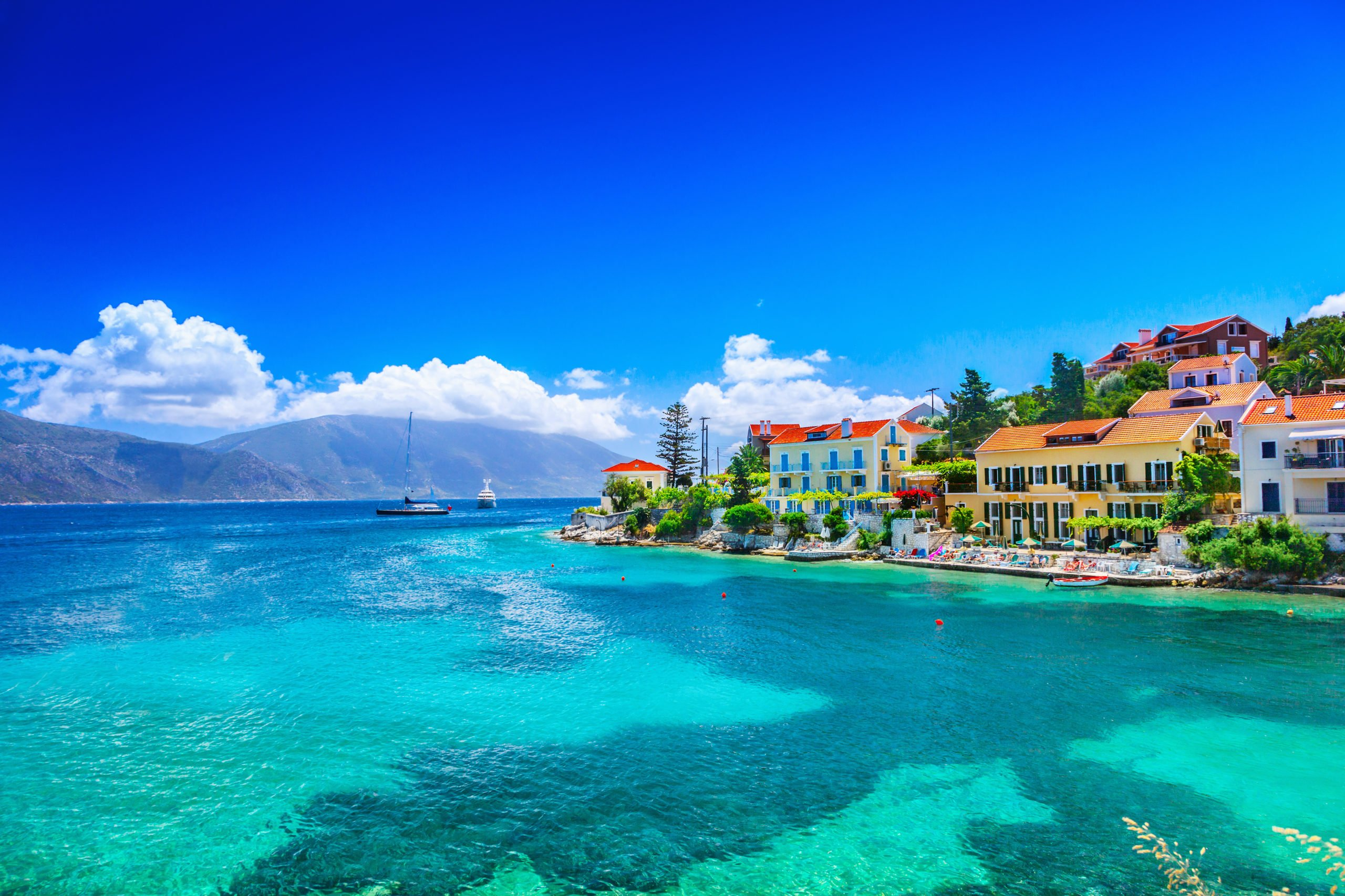 Swim In The Crystal Clear Waters Of The Ionian Sea On The Kefalonia Coastline Cruise Including Fiscardo & Melissani Lake