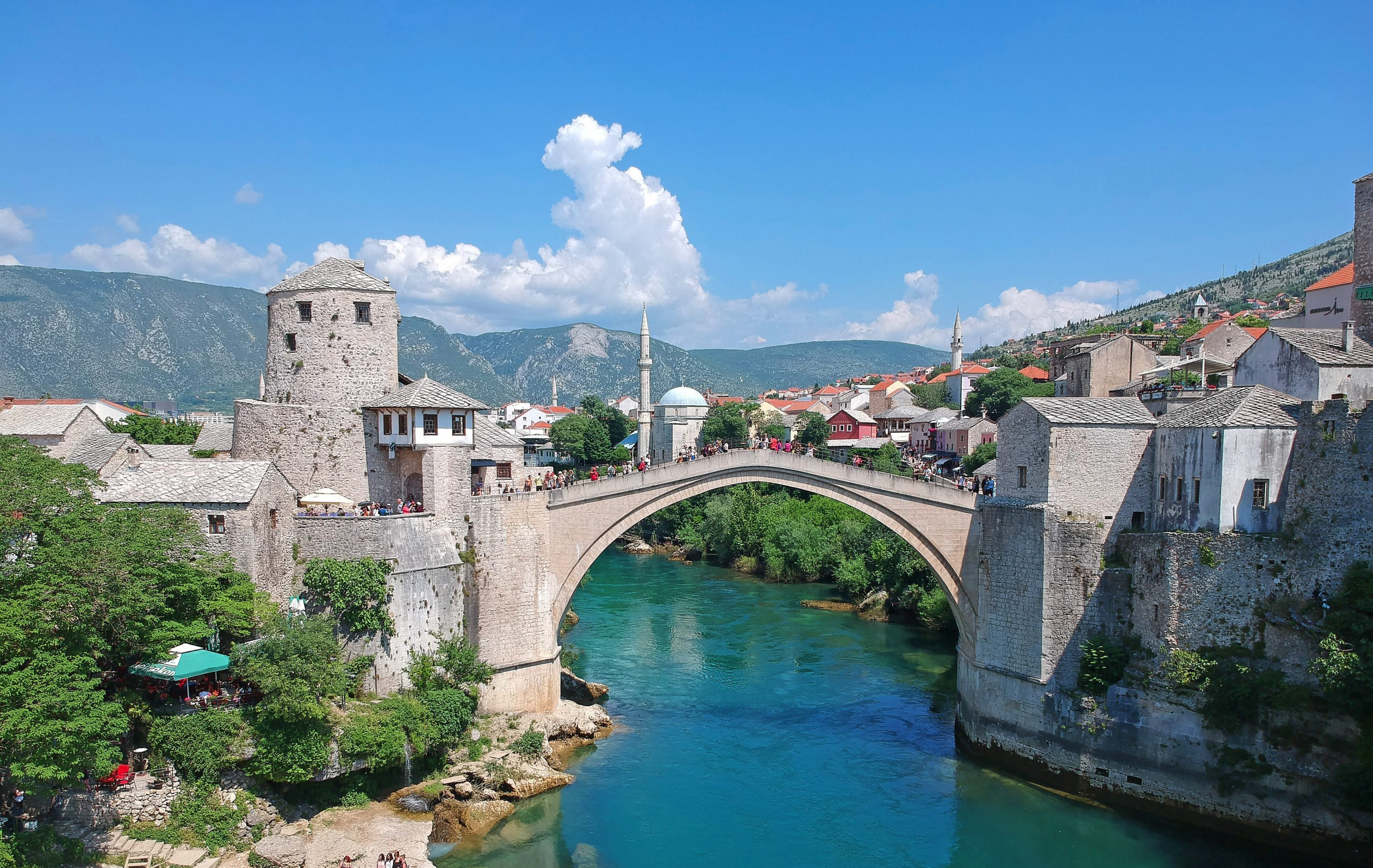 Visit One Of The Landmarks Of Bosnia And Herzegovina - The Old Bridge Over The Neretva River - On The 7 Day Highlights Of Croatia Package Tour