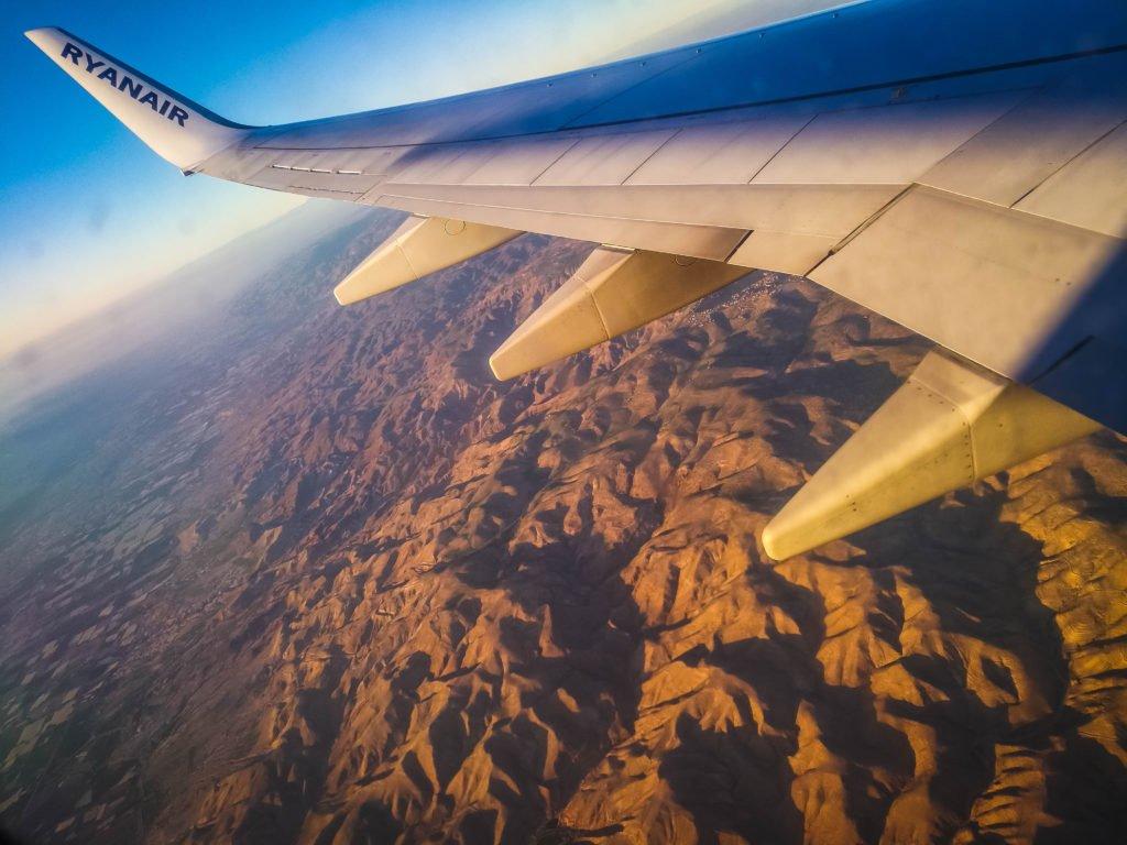 Flight over Jordan Desert