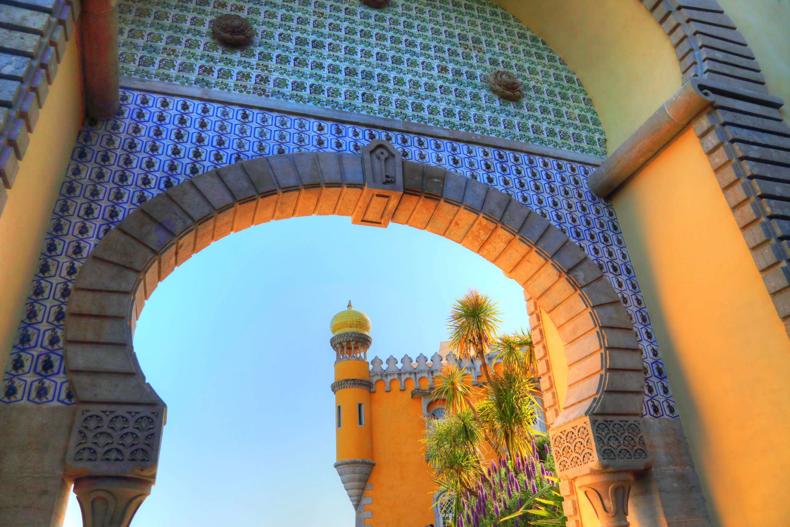 Admire The Architectural Facades Of The National Palace On The Sintra Half Day Tour From Lisbon