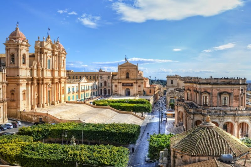 Enjoy A Walking Tour Through Noto On The 8 Days Highlights Of Sicily Tour Package