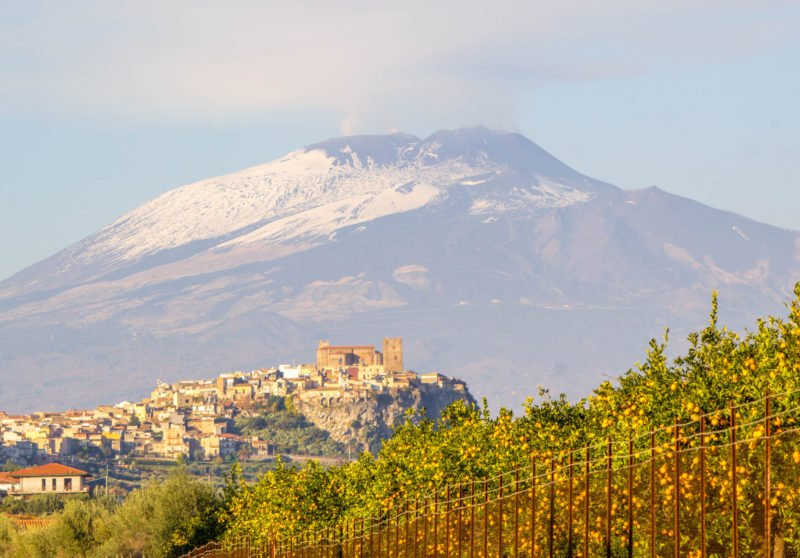 Enjoy The Views Of Mt Etna And Taste A Glass Of Delicious Etna Wine