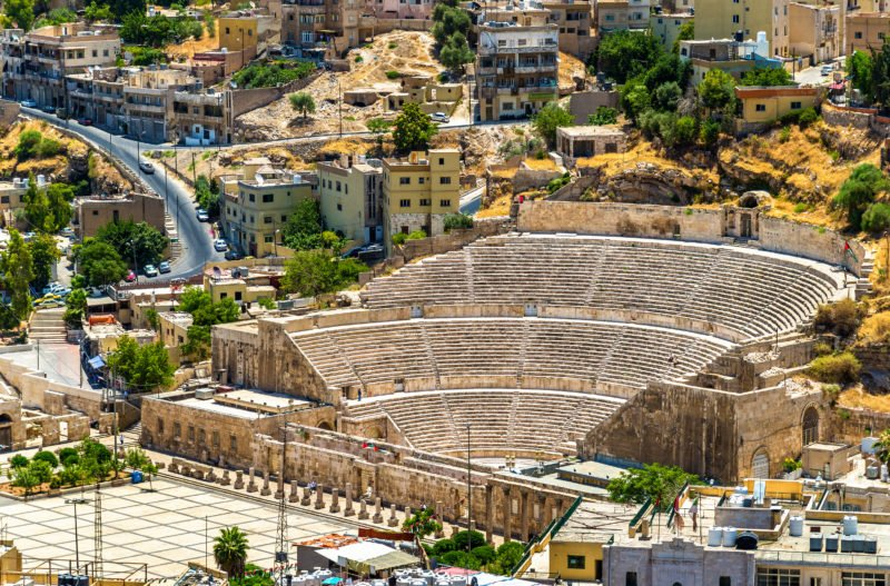 Explore The Amphitheater Of Amman On The Amman, Madaba, Mount Nebo, Dead Sea Day Tour From Amman