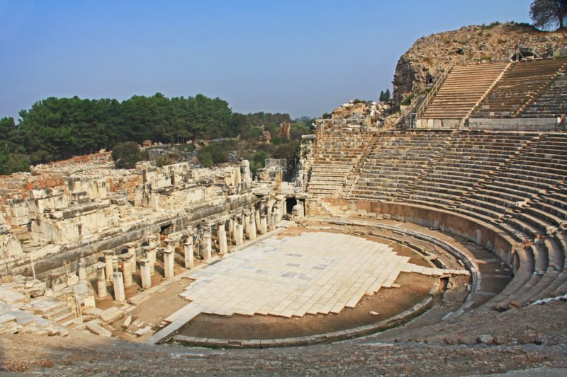 Explore The Amphitheater From Ephesus On The Ancient Ephesus Tour From Selcuk And Kusadasi
