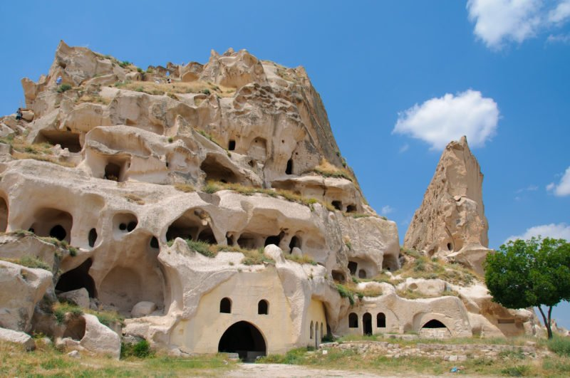 Explore The Views From Uchisar Castle On The Cappadocia 3 Day Tour From Antalya